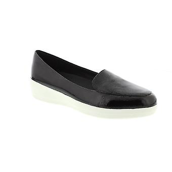 FitFlop Sneakerloafer - Black Patent (Leather) Womens Shoes