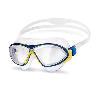Head Horizon Swim Goggle - Clear Lens - Yellow/Blue/Clear