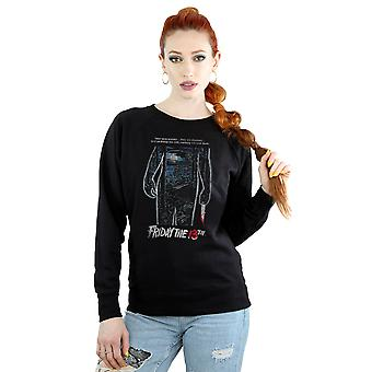 Friday 13th Women's Distressed Poster Sweatshirt