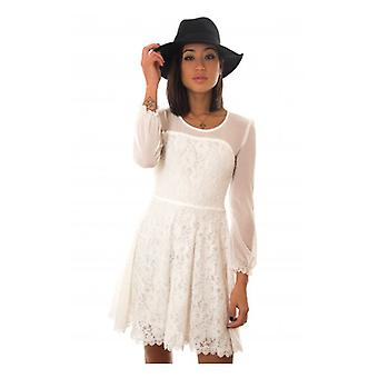 The Fashion Bible White Lace Skater Dress