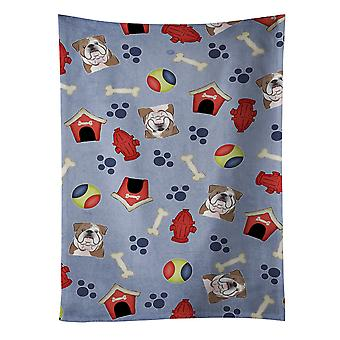 Dog House Collection English Bulldog  Kitchen Towel