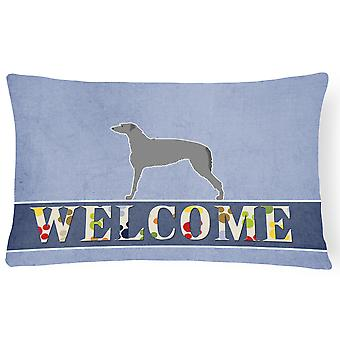 Scottish Deerhound Welcome Canvas Fabric Decorative Pillow