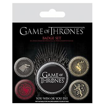 Game Of Thrones Badge Pack House crests stark lannister new Official 5 X button