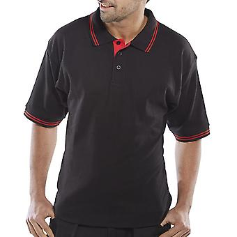 Click Two Tone Peak Polo Shirt 200Gsm - Clpkstt