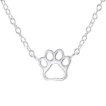 Paw Print - 925 Sterling Silver Plain Necklaces