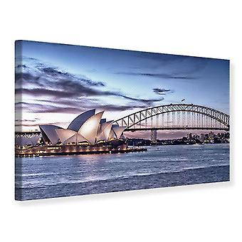Canvas Print Skyline Sydney Opera House