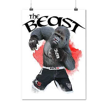 Matte or Glossy Poster with The Beast Gorilla | Wellcoda | *d2005