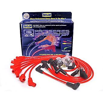 Taylor Cable 74258 Red Universal Fit 8mm Spiro-Pro Ignition Wire Set
