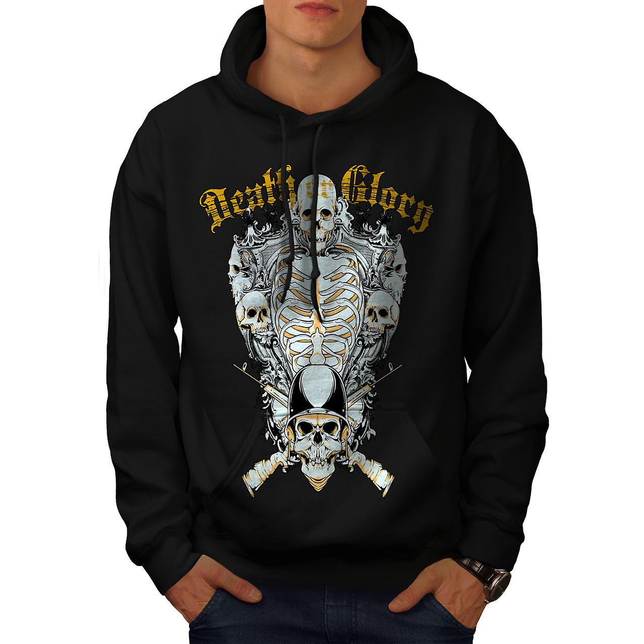 Glory Guns Dead Skull Men Black Hoodie | Wellcoda
