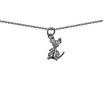 Silver 15x8mm moveable Mouse Pendant with rolo Chain 14 inches Only Suitable for Children