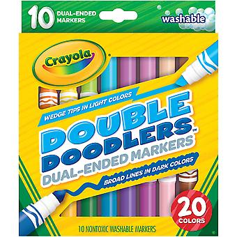 Crayola Dual-Ended Washable Double Doodlers Markers-10/Pkg 58-8310