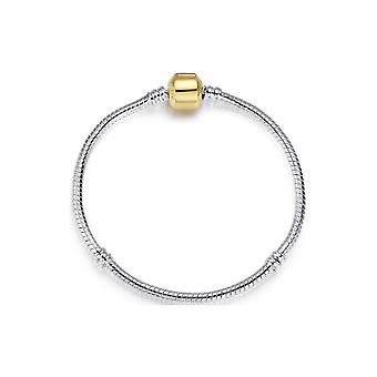 Bracelet Charm's et Beads en Acier Inoxydable - 20 cm