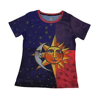 Laurel Burch céleste soleil et la lune à manches courtes T-Shirt de dames