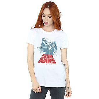 Star Wars Women's Han Solo Chewie Duet Boyfriend Fit T-Shirt