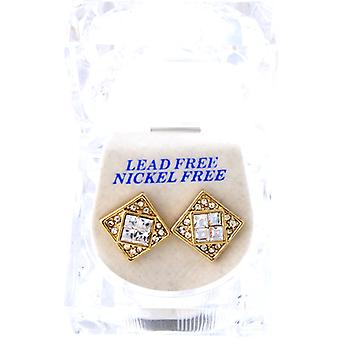 Iced out bling earrings box - ON ICE gold