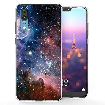 Huawei P20 blå Constellation TPU bærevesken