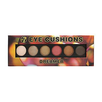W7 Dreamer Eye Cushions Gel To Powder 6 Colour Eyeshadow Palette