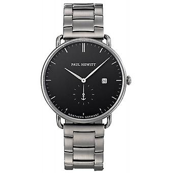 Paul Hewitt Grand Atlantic Line Quartz Watch - Gunmetal Grey/Black