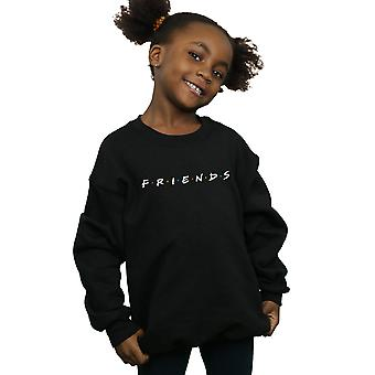 Freunde Mädchen Text Logo Sweatshirt