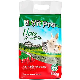 Ica Heno Vit Pro 500GrMenta and Escarabu (Small pets , Hay)