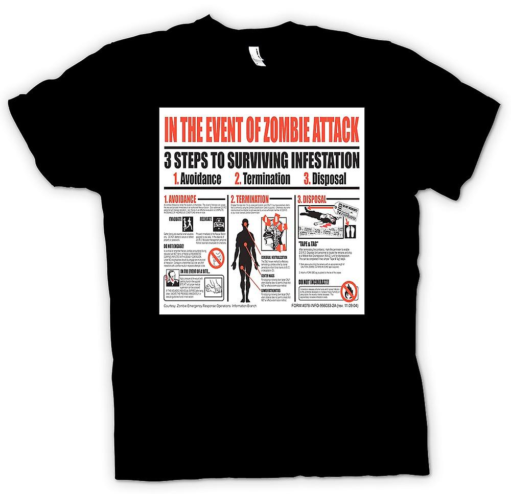 Womens T-shirt - Zombie Infestation - Survival Poster