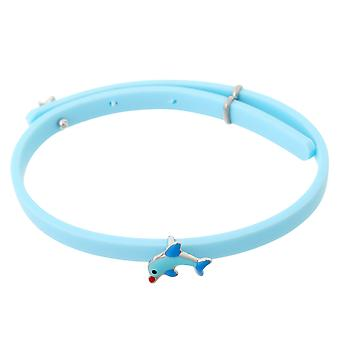 Orphelia Silver 925 Kids Bracelet Rubber W/ Dolphin Adjustable  ZA-7156/BLUE