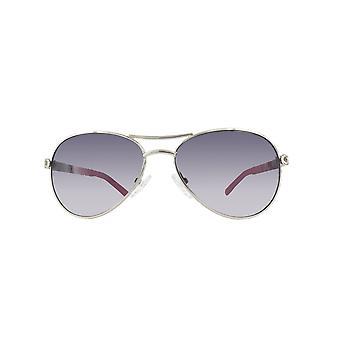 Guess sunglasses GU0124T-SI-54 SILVER PINK