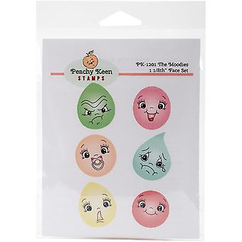 Peachy Keen Stamps Clear Face Assortment 6/Pkg-The Moodies