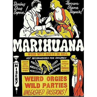Marijuana filmaffisch (11 x 17)