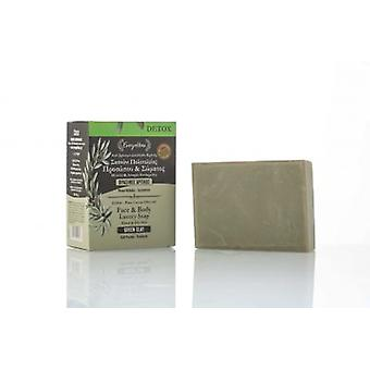Green Clay DETOX soap for a mixed and oily skin.