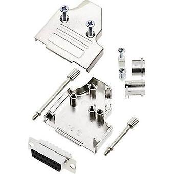 encitech MHDM35-15-DMS-K D-SUB receptacle set 180 ° Number of pins: 15 Solder bucket 1 Set