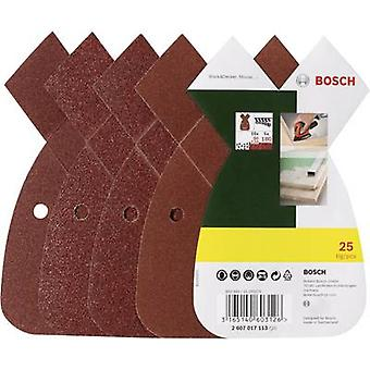 Bosch Accessories 2607017113 Multi-purpose sandpaper set Hook-and-loop-backed, Punched Grit size 80, 120, 180 (L x W)