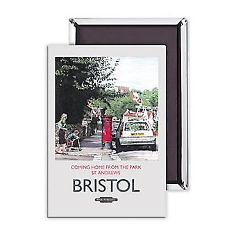 Bristol Coming Home From The Park Steel Fridge Magnet
