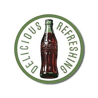 Coca Cola Round 60S Bottle Metal Sign