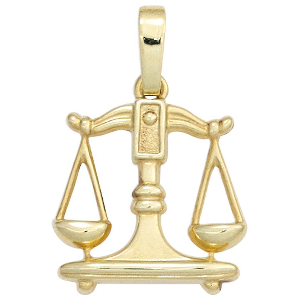 Signe du zodiaque balance or pendentif zodiaque balance 333 or jaune or