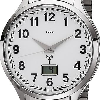 JOBO men's wristwatch radio radio clock stainless steel cable mens watch with date