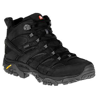 Merrell Moab 2 smooth mid WP men's trekking shoes black
