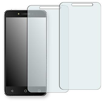 Alcatel shine Lite screen protector - Golebo crystal-clear protector (deliberately smaller than the display, as this is arched)