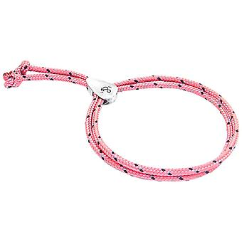 Anchor and Crew Pembroke Silver and Rope Bracelet - Pink