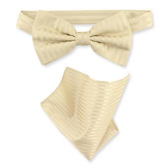 Vesuvio Napoli BowTie a strisce strisce verticali Mens cravatta & fazzoletto