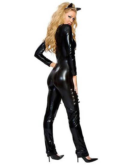 Waooh 69 - Sexy outfit kostuum combinatie Black Cat