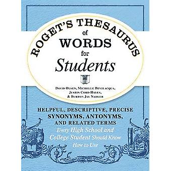 Roget's Thesaurus of Words for Students - Helpful - Descriptive - Prec