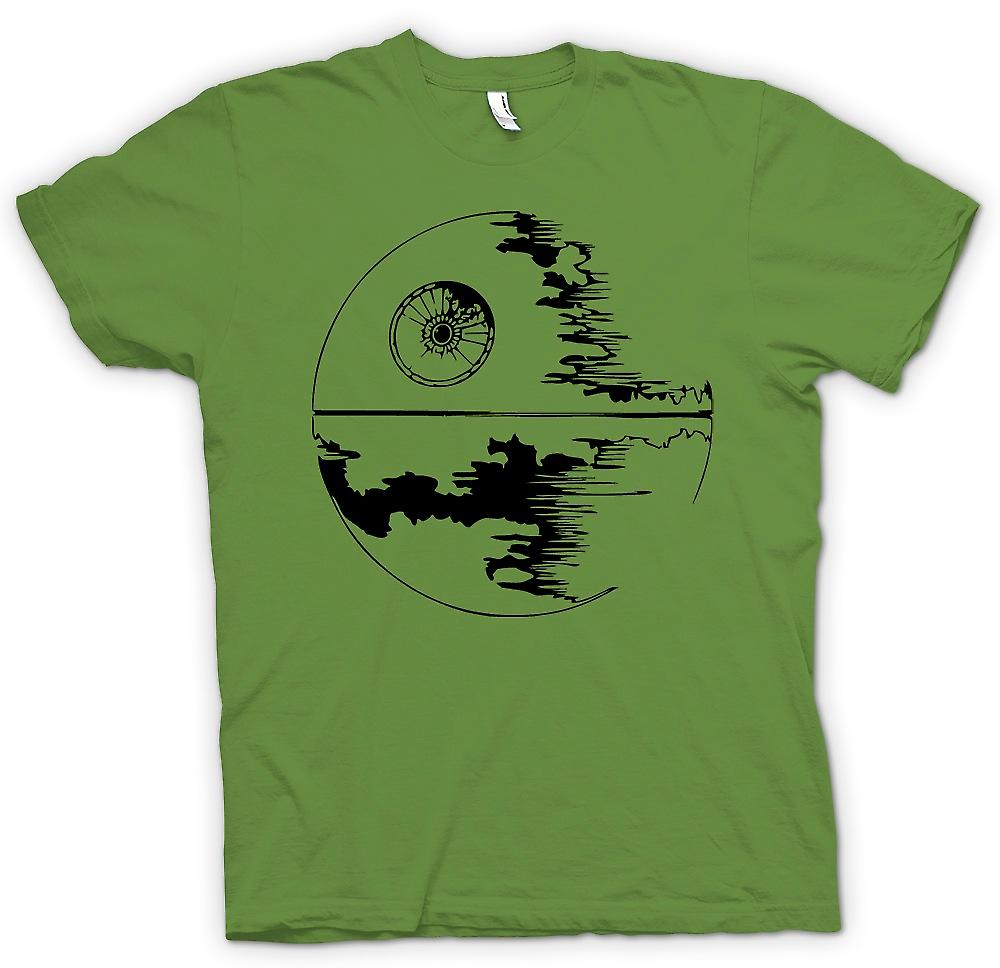 Heren T-shirt-Death Star in aanbouw