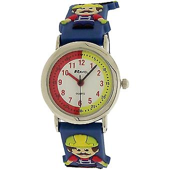 Ravel Time Teacher 3D Builder Blue Strap Watch + Telling Time Award R1513.45