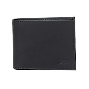 Levis Black Casual Classics Hunte Batwing Leather Bifold Wallet