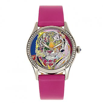 Bertha Annabelle Leather-Band Watch - Pink