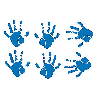 Pack Of 6 Quality Vinyl Hand Prints Stickers