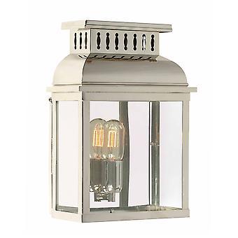 Westminster væg lanterne poleret nikkel - Elstead belysning