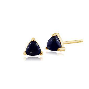 Gemondo 9 kt gult gull 0,50 ct Lapis Lazuli eneste stein Stud øredobber