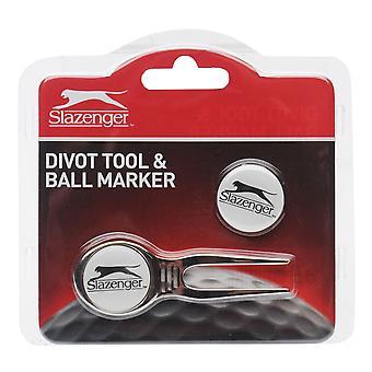 SLAZENGER Unisex Divot herramienta y marcador de bola